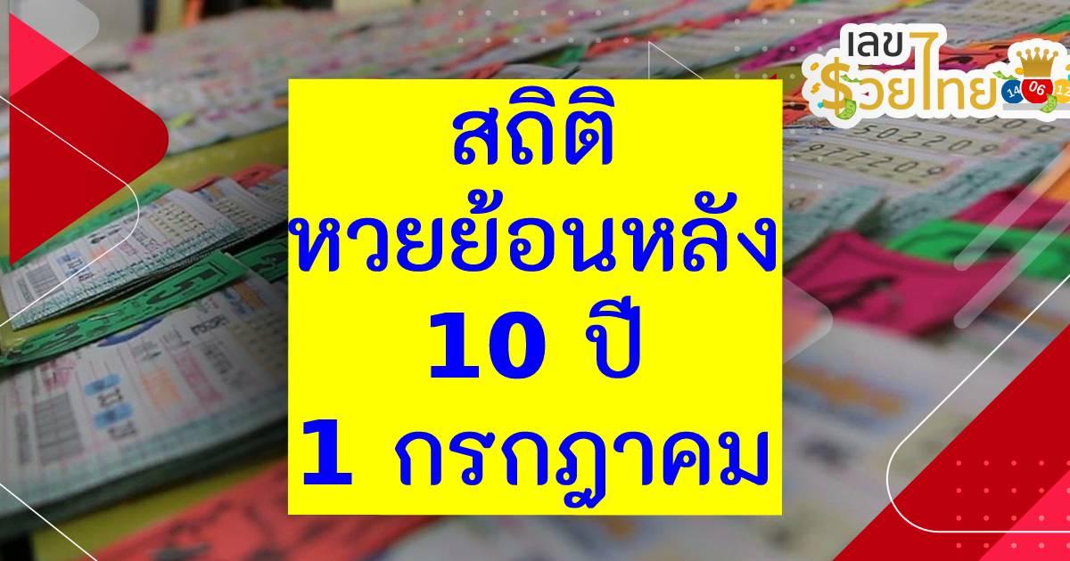 สรุป สถิติหวยไทยงวดวันที่ 1 กรกฎาคม 10 ปี เลขมาแรง